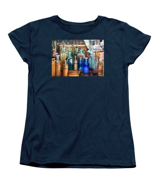 Apothecary - Remedies For The Fits Women's T-Shirt (Standard Cut) by Mike Savad