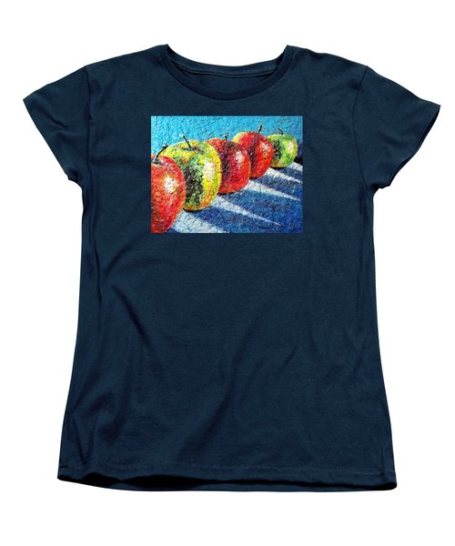 Apple A Day Women's T-Shirt (Standard Cut) by Susan DeLain