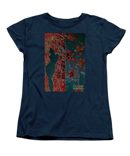 Women's T-Shirt (Standard Cut) featuring the painting April Showers/ May Flowers by Jacqueline McReynolds