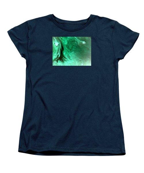 Women's T-Shirt (Standard Cut) featuring the mixed media Aqua Tree by Salman Ravish