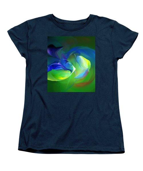 Women's T-Shirt (Standard Cut) featuring the digital art Aquatic Illusions by David Lane