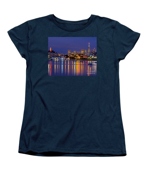 Aquatic Park Blue Hour Women's T-Shirt (Standard Cut) by Kate Brown