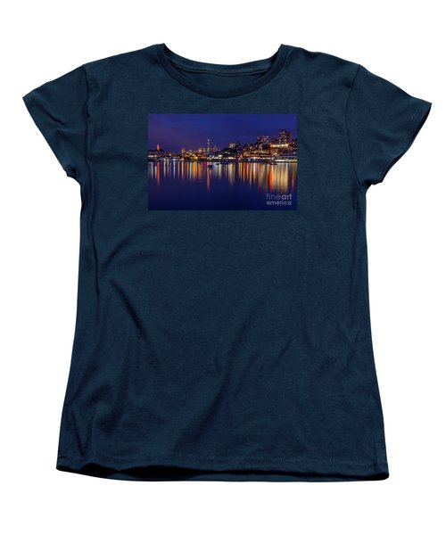 Aquatic Park Blue Hour Wide View Women's T-Shirt (Standard Cut) by Kate Brown