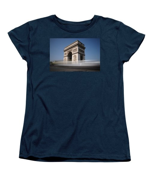 Arc De Triomphe Women's T-Shirt (Standard Cut) by Jeremy Voisey