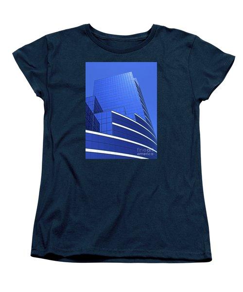 Women's T-Shirt (Standard Cut) featuring the photograph Architectural Blues by Ann Horn