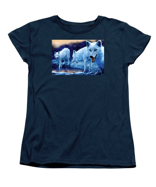 Arctic White Wolves Women's T-Shirt (Standard Fit)