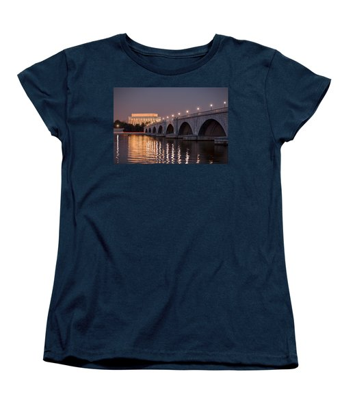 Arlington Memorial Bridge Women's T-Shirt (Standard Cut) by Eduard Moldoveanu