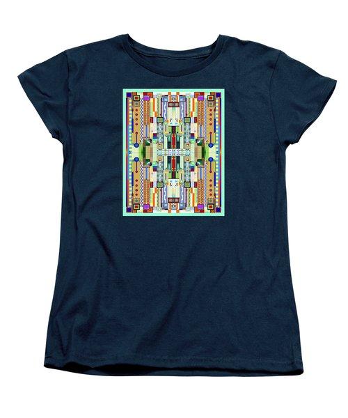 Art Deco Stained Glass 2 Women's T-Shirt (Standard Cut) by Ellen Henneke