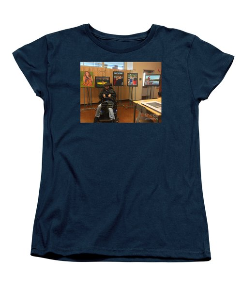 Women's T-Shirt (Standard Cut) featuring the photograph Artist With Lake Series by Donald J Ryker III