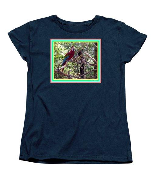 Women's T-Shirt (Standard Cut) featuring the photograph Artistic Wild Hawaiian Parrot by Joseph Baril