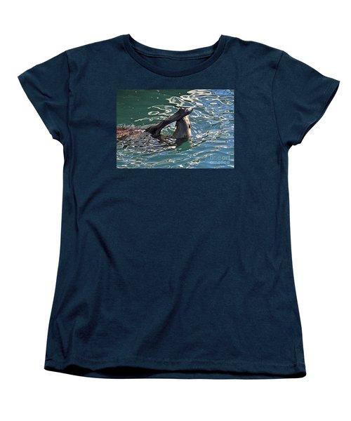Artsy Sea Lion Women's T-Shirt (Standard Cut)