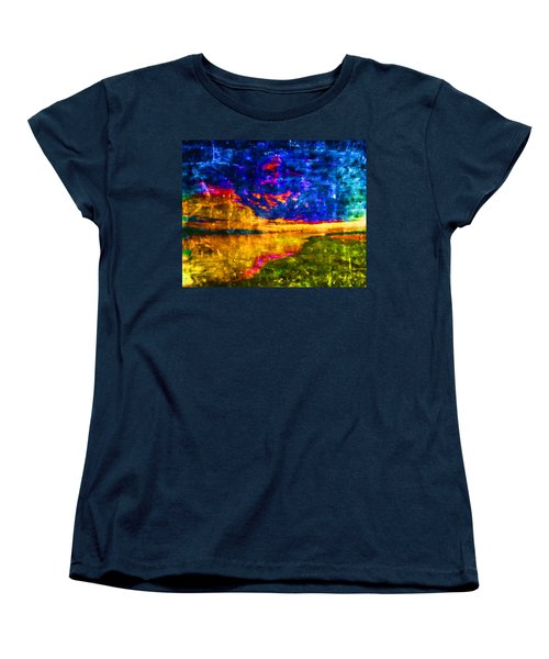 Women's T-Shirt (Standard Cut) featuring the painting As The World Ends by Joe Misrasi