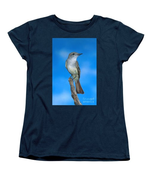 Ash-throated Flycatcher Women's T-Shirt (Standard Cut) by Anthony Mercieca