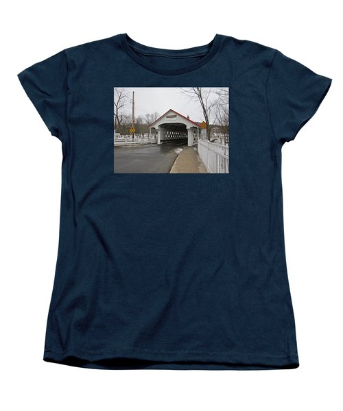 Ashuelot Bridge Women's T-Shirt (Standard Cut) by MTBobbins Photography