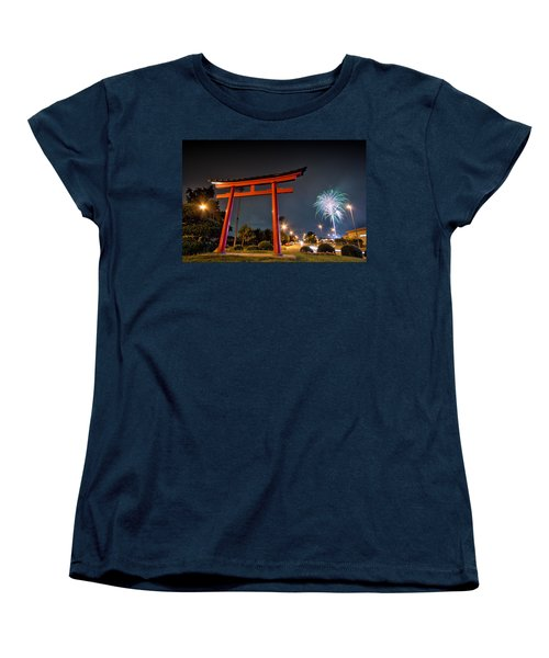 Asian Fireworks Women's T-Shirt (Standard Cut) by John Swartz