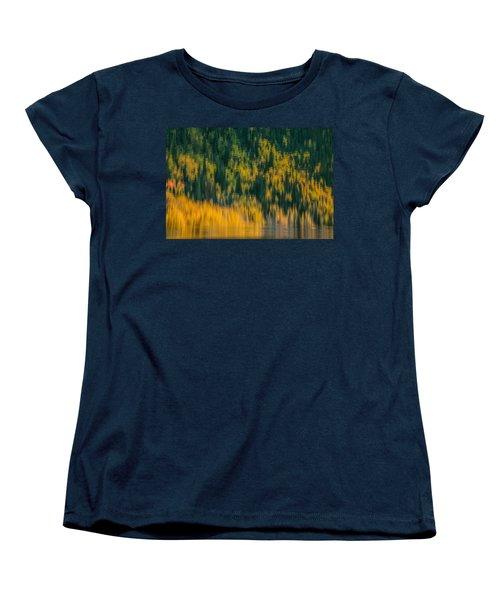 Women's T-Shirt (Standard Cut) featuring the photograph Aspen Abstract by Ken Smith
