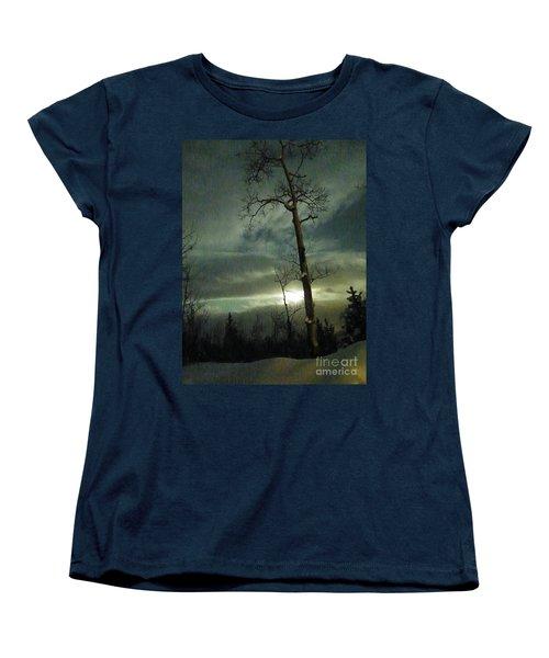 Aspen In Moonlight Women's T-Shirt (Standard Cut) by Brian Boyle