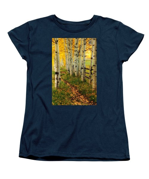 Women's T-Shirt (Standard Cut) featuring the photograph Aspen Path by Ronda Kimbrow