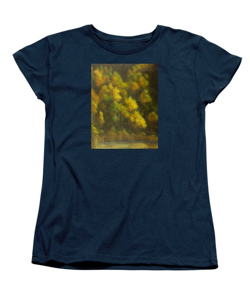 Aspens And Cattails Women's T-Shirt (Standard Cut) by Jack Malloch