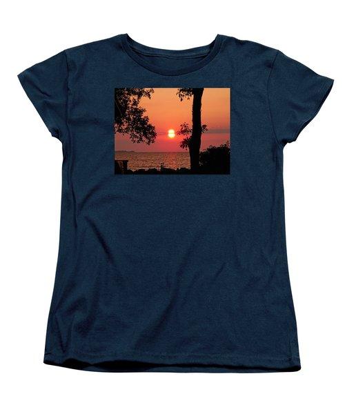 Women's T-Shirt (Standard Cut) featuring the photograph Association Island Sunset by Aimee L Maher Photography and Art Visit ALMGallerydotcom