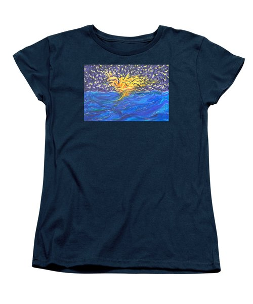 At Sea Women's T-Shirt (Standard Cut) by Mark Minier
