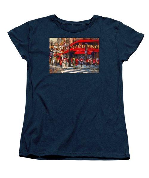At The Cafe De La Rotonde Paris Women's T-Shirt (Standard Cut)