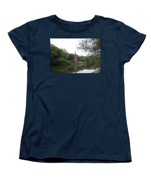 Women's T-Shirt (Standard Cut) featuring the photograph at THE MINNEWATER in BRUGGE Brugges Belgium by PainterArtist FIN