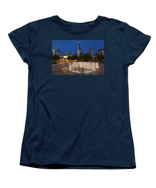 Atlanta By Night Women's T-Shirt (Standard Cut) by Alexey Stiop