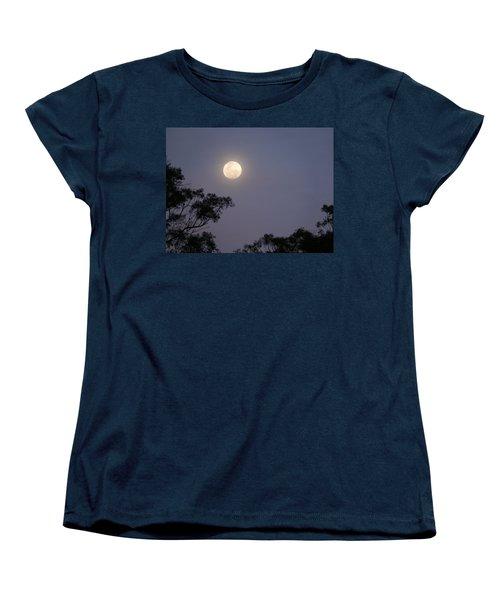 August Moon Women's T-Shirt (Standard Cut) by Evelyn Tambour
