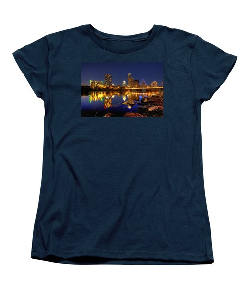 Austin On The Rocks Women's T-Shirt (Standard Cut) by Dave Files