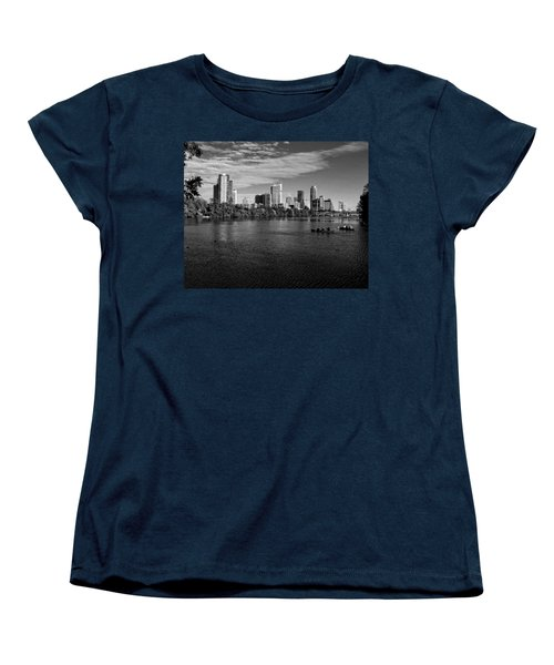 Austin Skyline Bw Women's T-Shirt (Standard Cut) by Judy Vincent