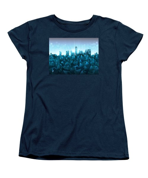 Austin Skyline Geometry 3 Women's T-Shirt (Standard Cut) by Bekim Art