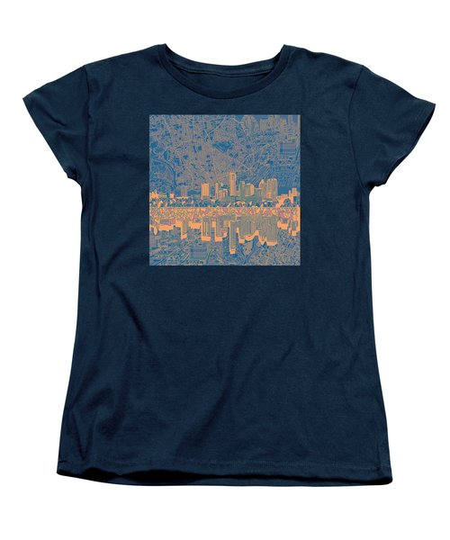 Austin Texas Skyline 2 Women's T-Shirt (Standard Cut) by Bekim Art