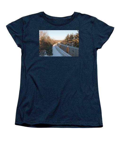 Auto-racks Spencer Massachusetts Women's T-Shirt (Standard Cut) by John Black