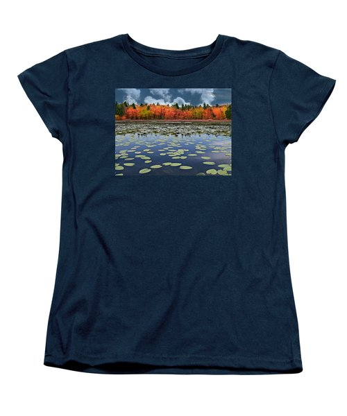 Autumn Across The Pond Women's T-Shirt (Standard Cut) by Barbara S Nickerson