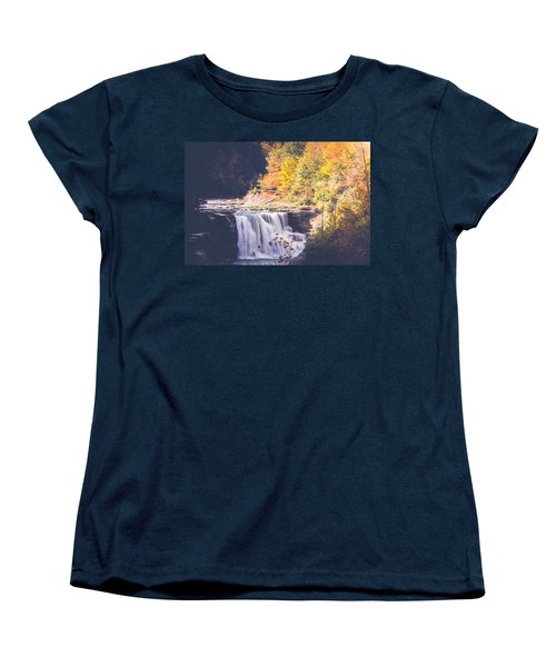 Autumn At Letchworth Women's T-Shirt (Standard Cut) by Sara Frank