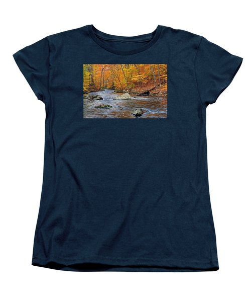 Autumn At The Black River Women's T-Shirt (Standard Cut) by Dave Mills