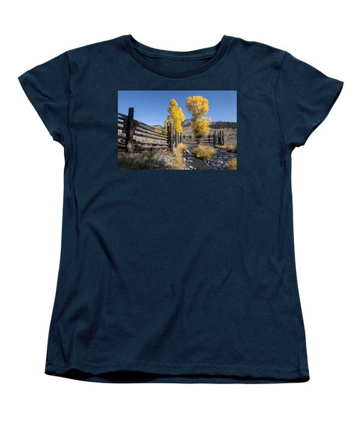 Women's T-Shirt (Standard Cut) featuring the photograph Autumn At The Lamar Buffalo Ranch by Jack Bell