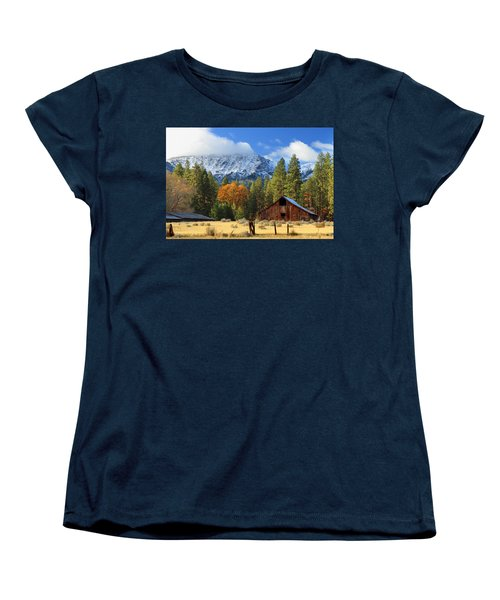 Autumn Barn At Thompson Peak Women's T-Shirt (Standard Cut)