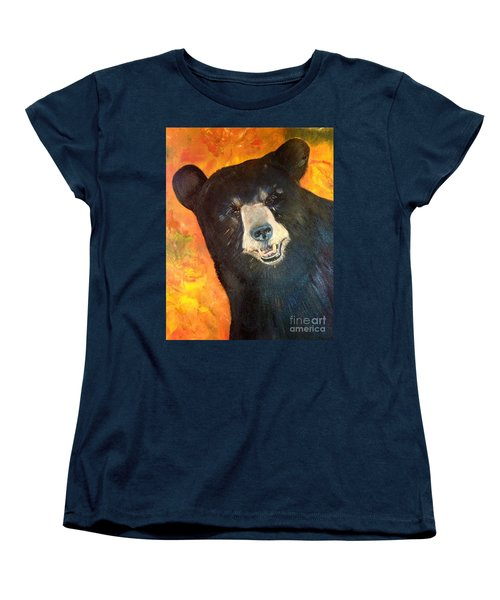 Women's T-Shirt (Standard Cut) featuring the painting Autumn Bear by Jan Dappen