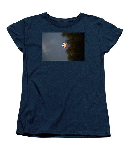Autumn Floating By Women's T-Shirt (Standard Cut) by Rebecca Davis