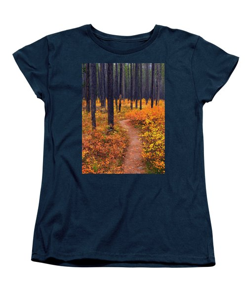 Women's T-Shirt (Standard Cut) featuring the photograph Autumn In Yellowstone by Raymond Salani III