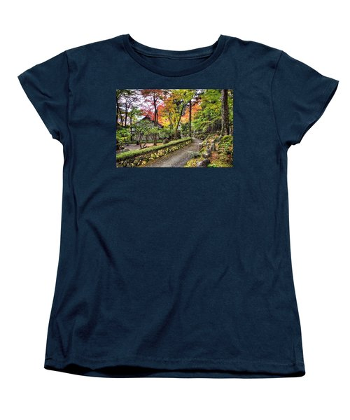 Autumn Walk Women's T-Shirt (Standard Cut) by John Swartz