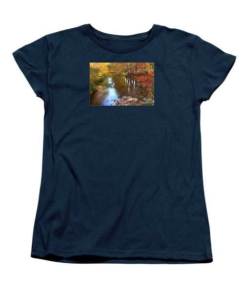 Autumn Reflection Women's T-Shirt (Standard Cut) by Dora Sofia Caputo Photographic Art and Design