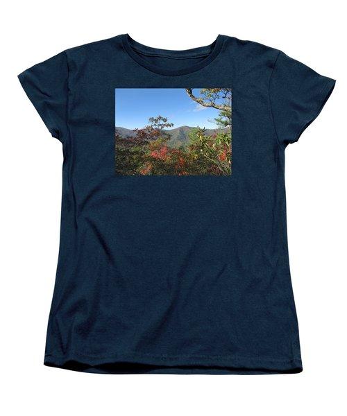 Autumn Smoky Mountains Women's T-Shirt (Standard Cut) by Melinda Fawver