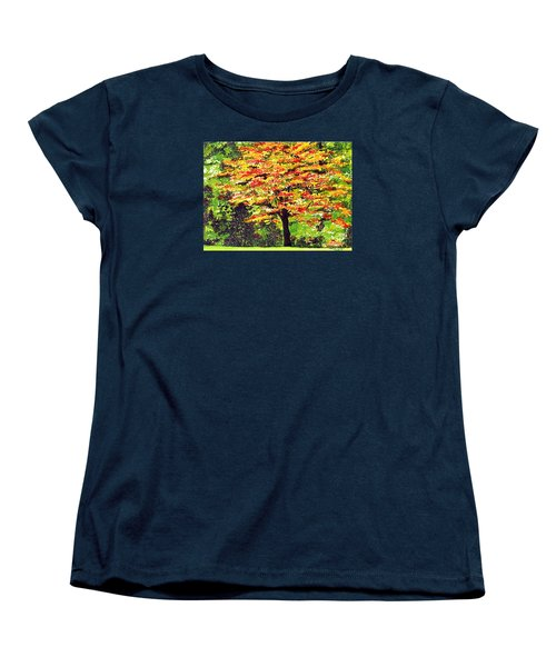 Women's T-Shirt (Standard Cut) featuring the painting Autumn Splendor by Patricia Griffin Brett