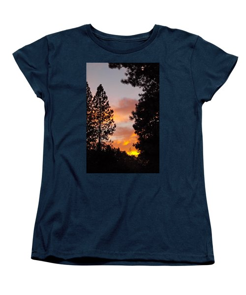Autumn Sunset Women's T-Shirt (Standard Cut) by Michele Myers