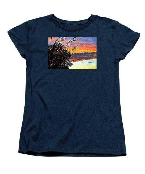 Autumn Sunset Women's T-Shirt (Standard Cut) by Luther Fine Art
