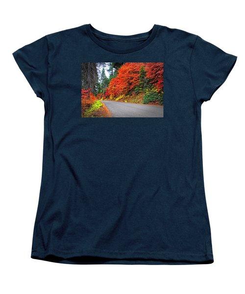 Women's T-Shirt (Standard Cut) featuring the photograph Autumn's Glory by Lynn Bauer