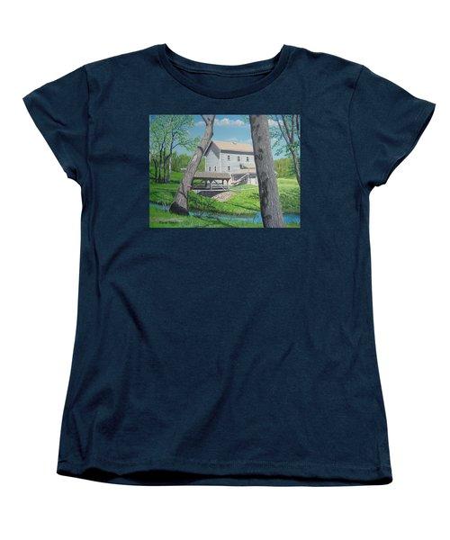 Award-winning Painting Of Beckman's Mill Women's T-Shirt (Standard Cut) by Norm Starks